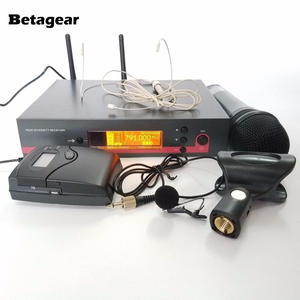 Betagear 135G3 беспроводной микрофон вокальный набор wirelss mic uhf microfone профессиональный бренд ручной + боди + отворот + гарнитура микрофон title=