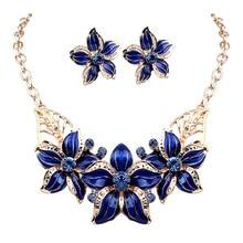 2018 Fashion Jewelry Women Accessories Luxury Crystal Flower