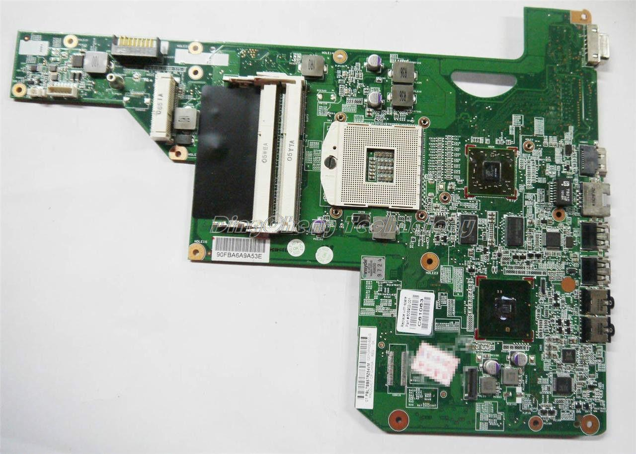 SHELI laptop Motherboard For hp compaq cq62 g62 g72 605902-001 for intel cpu with HM55 5430/512M non-integrated graphics card