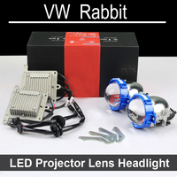 Bi Xenon Car LED Projector Lens Assembly For VW Volkswagen Golf Rabbit With Halogen Headlight ONLY