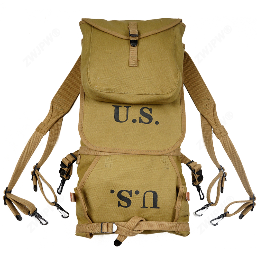 Repro WW2 US Army M1928 Knapsack Outdoor Backpack Camping Bag high quality