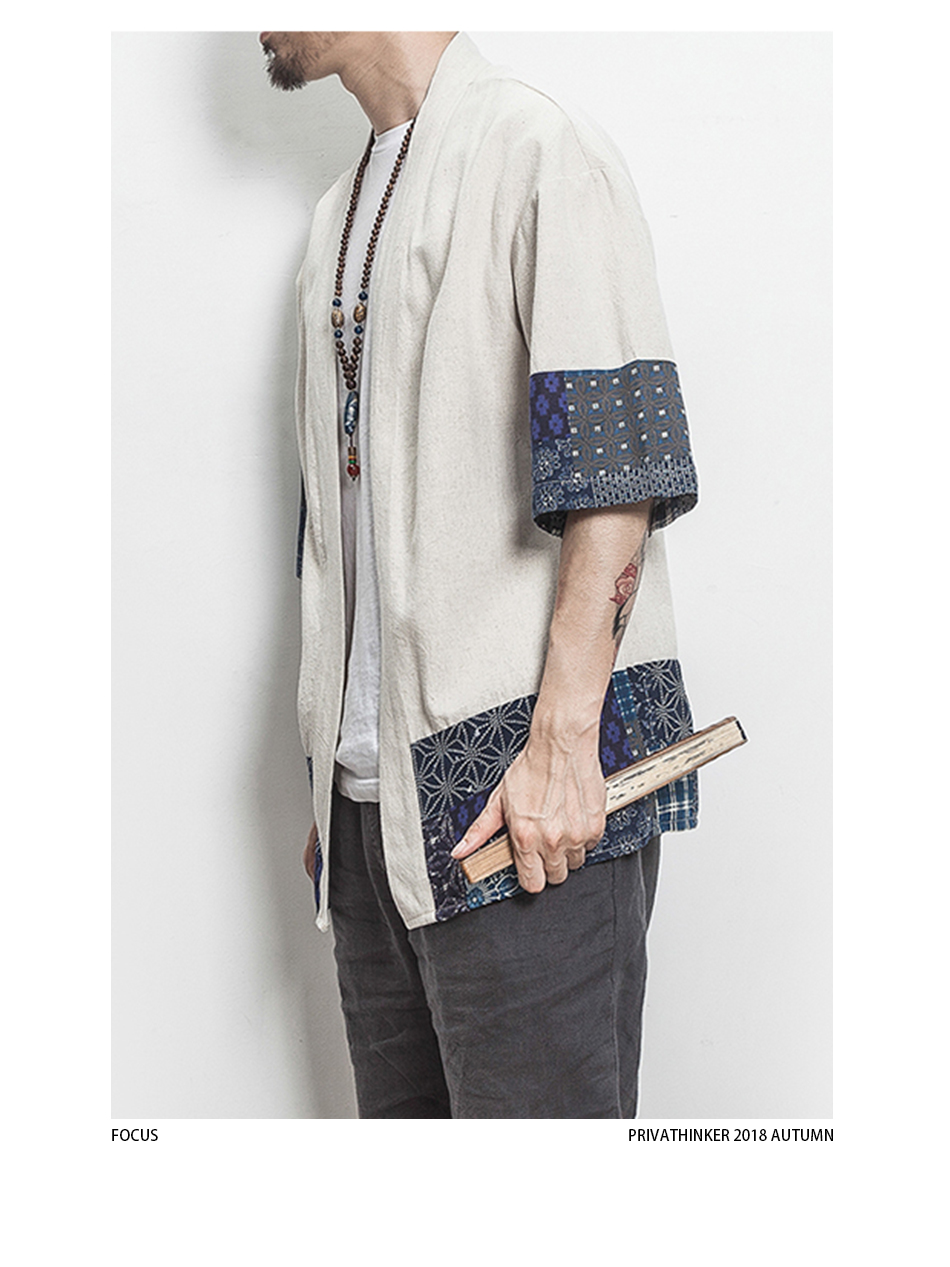 HTB1RS6SHkKWBuNjy1zjq6AOypXaW Drop Shipping Cotton Linen Shirt Jackets Men Chinese Streetwear Kimono Shirt Coat Men Linen Cardigan Jackets Coat Plus Size 5XL
