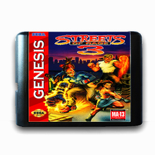 Street Of Rage 3 de 16 bits da Sega MD Cartão de Jogo para o Mega Drive para Genesis