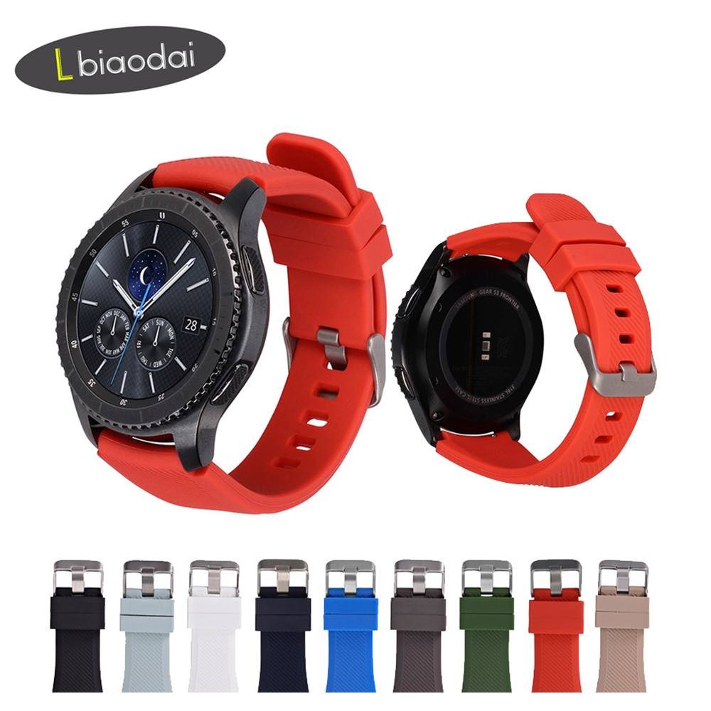 20/22mm Silicone Band For Gear S3 Frontier Huawei Watch GT 2 Strap S2 42mm 46mm Samsung Galaxy Watch 46mm/42mm/active 2 Strap