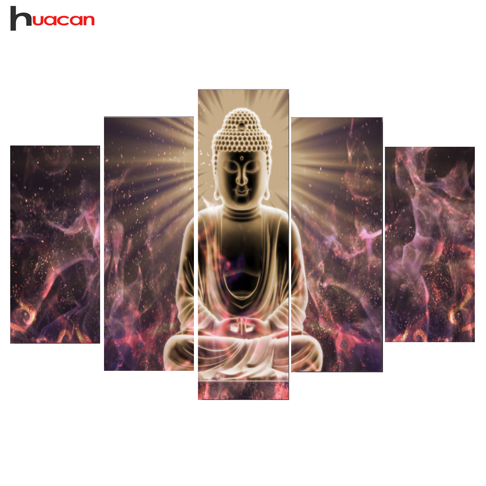 HUACAN 5D DIY Diamond Painting Buddha Full Square Rhinestone Mosaic Diamond Embroidery Wall Decor Cross Stitch Multi-Picture HUACAN 5D DIY Diamond Painting Buddha Full Square Rhinestone Mosaic Diamond Embroidery Wall Decor Cross Stitch Multi-Picture