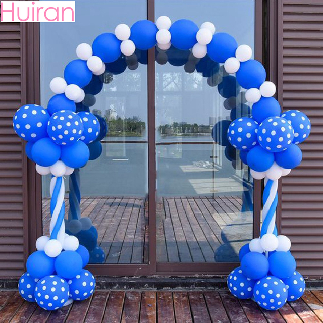 HUIRAN 2pcs/set Plastic Birthday Party Balloon Column Base