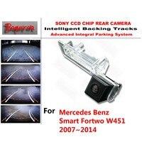 For Mercedes Benz Smart Fortwo W451 2007 2014 CCD Car Backup Parking Camera Intelligent Tracks Dynamic