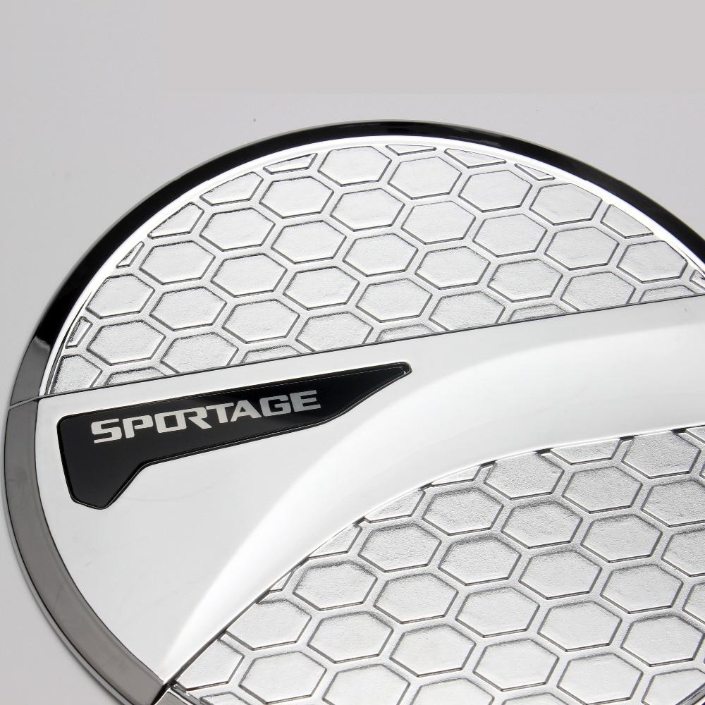 ABS Chrome Exterior Car Oil Fuel Tank Gas Cap Cover Trim Sticker For Kia Sportage 4 QL 2016 2017 2018 Car-styling Accessories