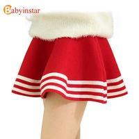 4 16Y New Hot 2016 Autumn Winter Kids Girl Skirts Princess Knit Child Bottom Comfortable High