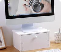 Computer Monitor Height Rangement Office Desktop Organizer Notebook Raise Bases Storage Drawer