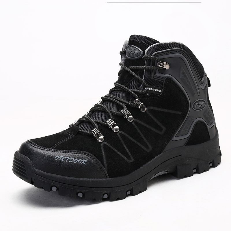 Winter/Autumn Outdoor Boots Men Shoes Male Adult Casual Ankle Rubber Anti-Skidding Boots Men work safety Shoes Footwear Sneaker 3