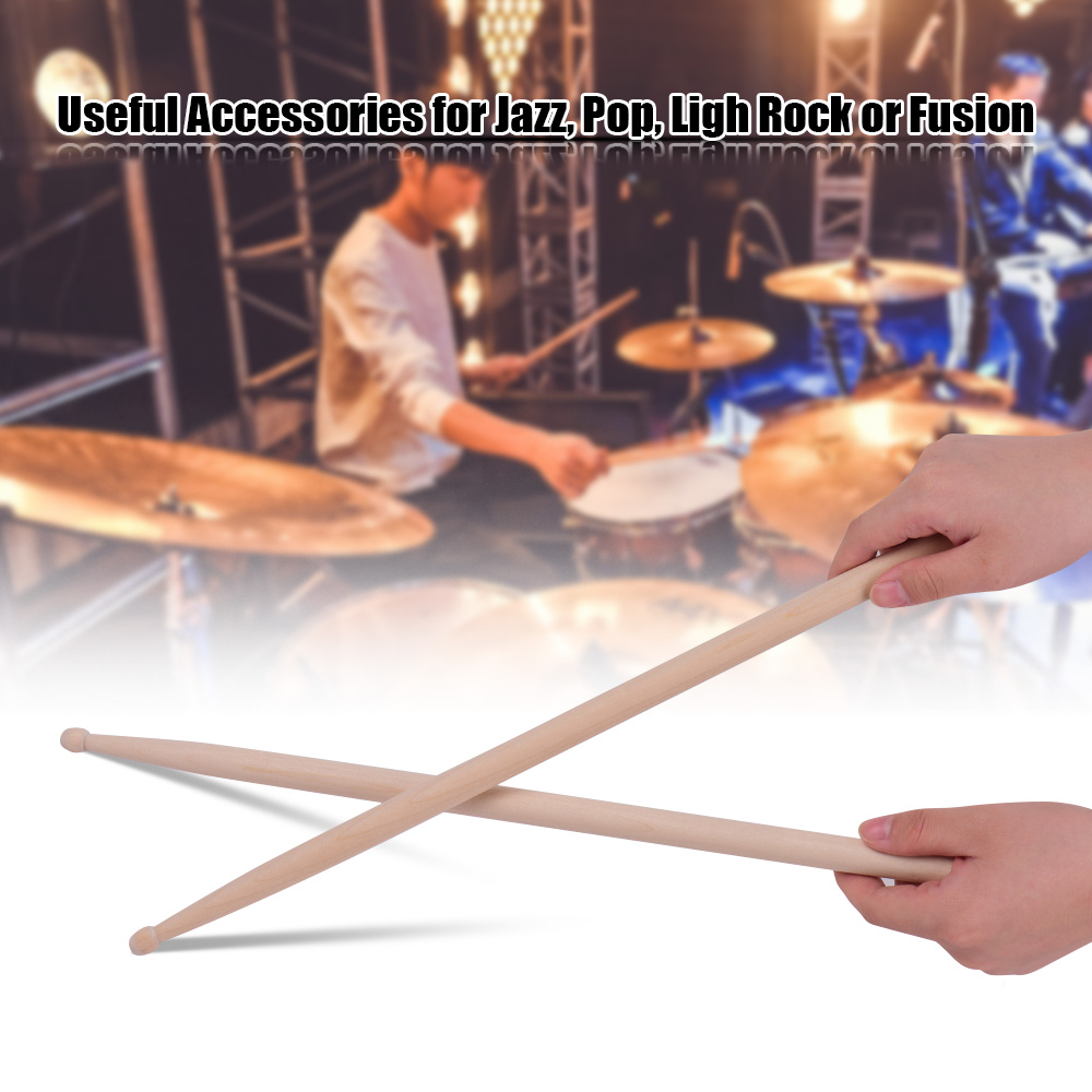 Classic 5A Drum Sticks Maple Wood Drumsticks 1 Pair Percussion Instrument Accessories  for both professional drummer  beginners
