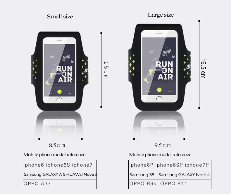 """Sireck Running Bags Touchscreen 5.0"""" 5.8"""" Armband Phone Waterproof Arms Bag Accessories Gym Sport Fitness Jogging Run Bag 45 cm 17"""