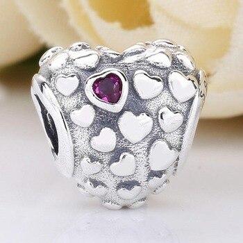 91c029cf287f 100% de plata 925 deliciosas palomitas encanto brillante nudo de amor  Líneas geométricas encanto pulsera de Pandora joyería DIY