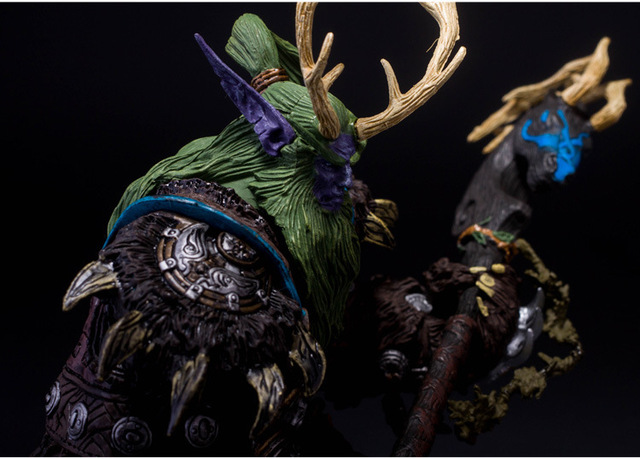 [Funny] Collection 22cm WOW Online Game Night Elf Druid Broll Bearmantle Figure Figurine model Toy Exquisite Collectible Gift  2