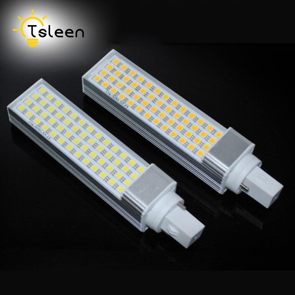 Cheap 1/4/8pcs Lampada LED Bulbs 7W 9W 11W 13W G24 Lamp SMD 5050 Spotlight 180 Degree AC85-265V Horizontal Plug Light CE RoHS r7s 15w 5050 smd led white light spotlight project lamp ac 85 265v