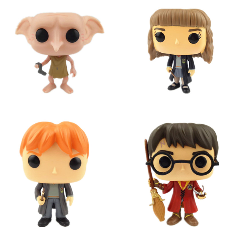 NEW 10cm Harry Potter and Hermione Snape doppy action figure Bobble Head Q Edition no box for Car Decoration