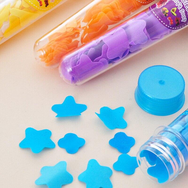 1Pcs Hand Sanitizer Gel Antibakteriální přenosné trubice mýdlo okvětní lístky pro cestování voňavé mýdlo lázně vločky dětské ruční mytí mýdla