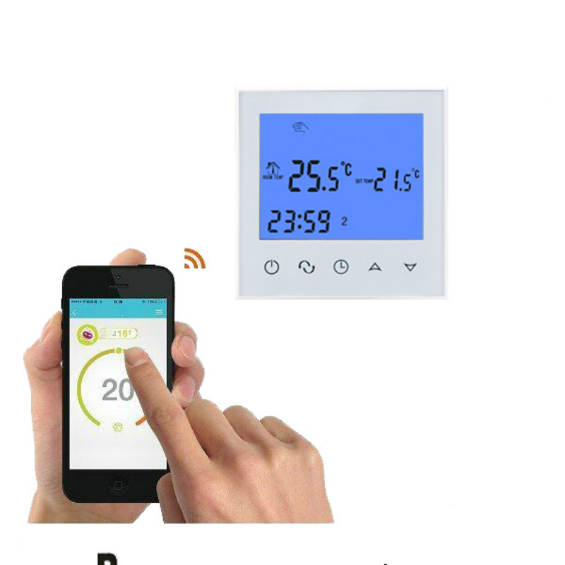 wireless room controller for underfloor heating digital wifi thermostat programmable App Temperature Controller Thermostat 16A infrared panel heater accessories digital room heating thermostat temperature controller