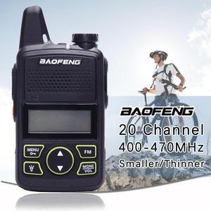 Image 2 - Gorąca sprzedaż Mini ultra cienki mini przedni BF T1 walkie talkie UHF 400 470MHz nadajnik FM dla hotelu odkryty cywilny
