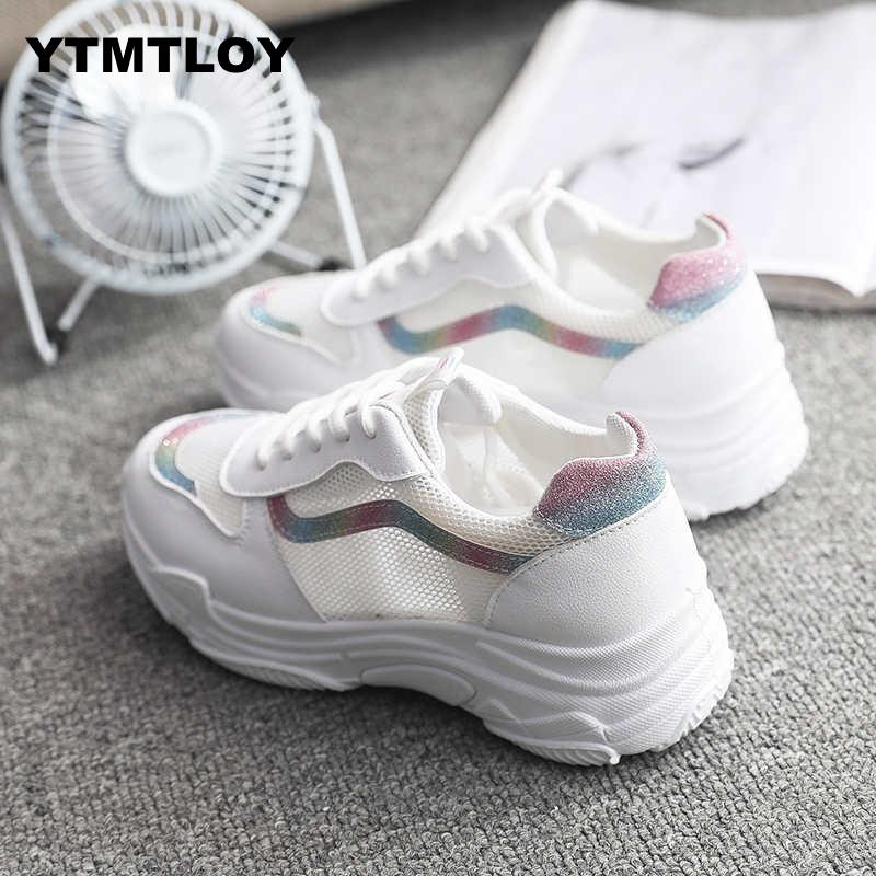 New 2019 Fashion Women Casual Shoes Suede Leather Platform Sneakers Ladies White Trainers Chaussure Femme  Sexemara  SummerNew 2019 Fashion Women Casual Shoes Suede Leather Platform Sneakers Ladies White Trainers Chaussure Femme  Sexemara  Summer