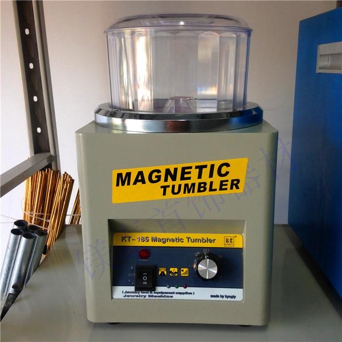 KT185 Magnetic Polishing Machine Tumbler Jewelry Polisher Finisher Finishing Machine, Magnetic Polishing Machine AC 110v 220v