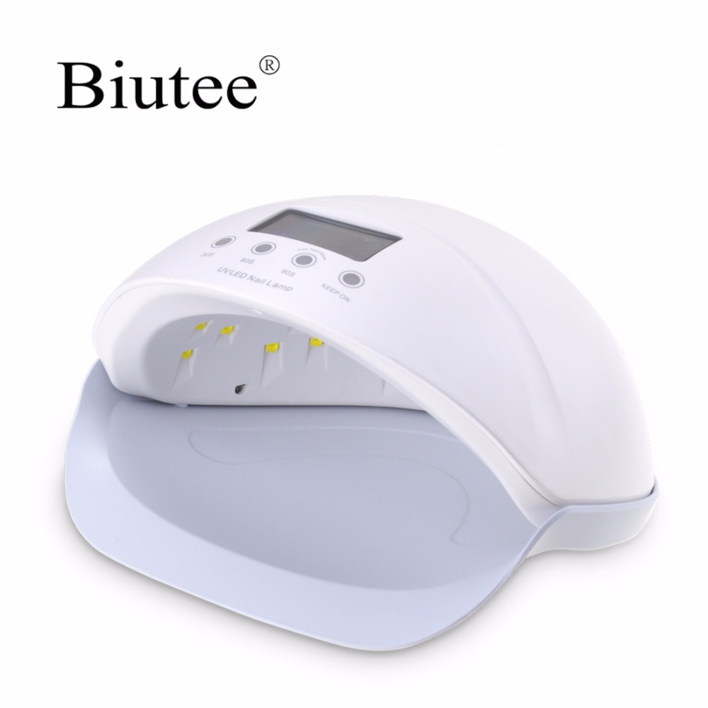Biutee SUNOne 50W UV LED Lamp Nail Lamp Nail Dryer with Red Blue Light Manicure Tools Curing Nail Art Gel Polish Nail Tools mdskl 48w led uv lamp nail dryer self clocking a minute of rapid drying golden electric nail art tools exemption from postage
