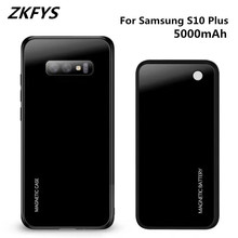 Wireless Magnetic Ultra Thin Fast Charger Battery Case For Samsung Galaxy S10 Plus S10+ 5000mAh Back Clip