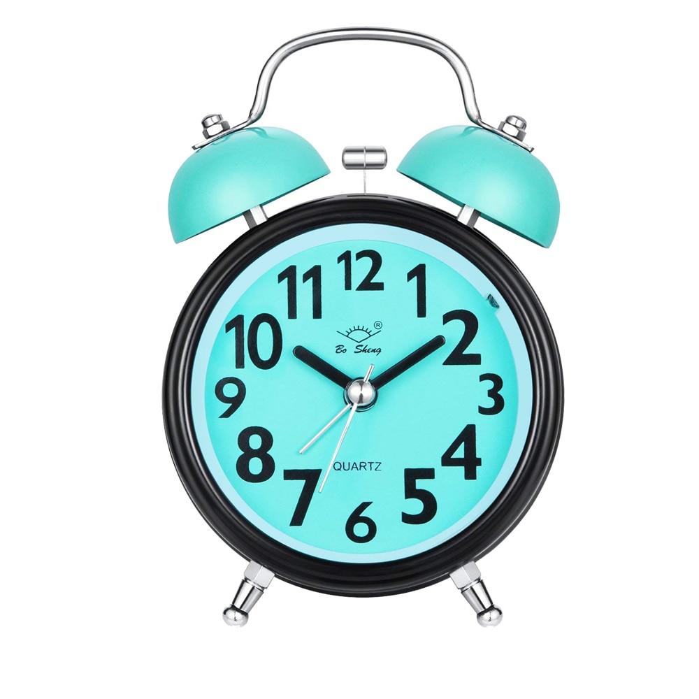 Alarm Clock For Bedrooms Twin Bell Silent Desk Alarm Clock Loud Kids Cute Silent Movement Alarm Clock For Kids