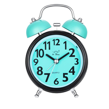 Alarm Clock for Bedrooms Twin Bell Silent Desk Alarm Clock Loud Kids Cute Silent Movement Alarm Clock for Kids