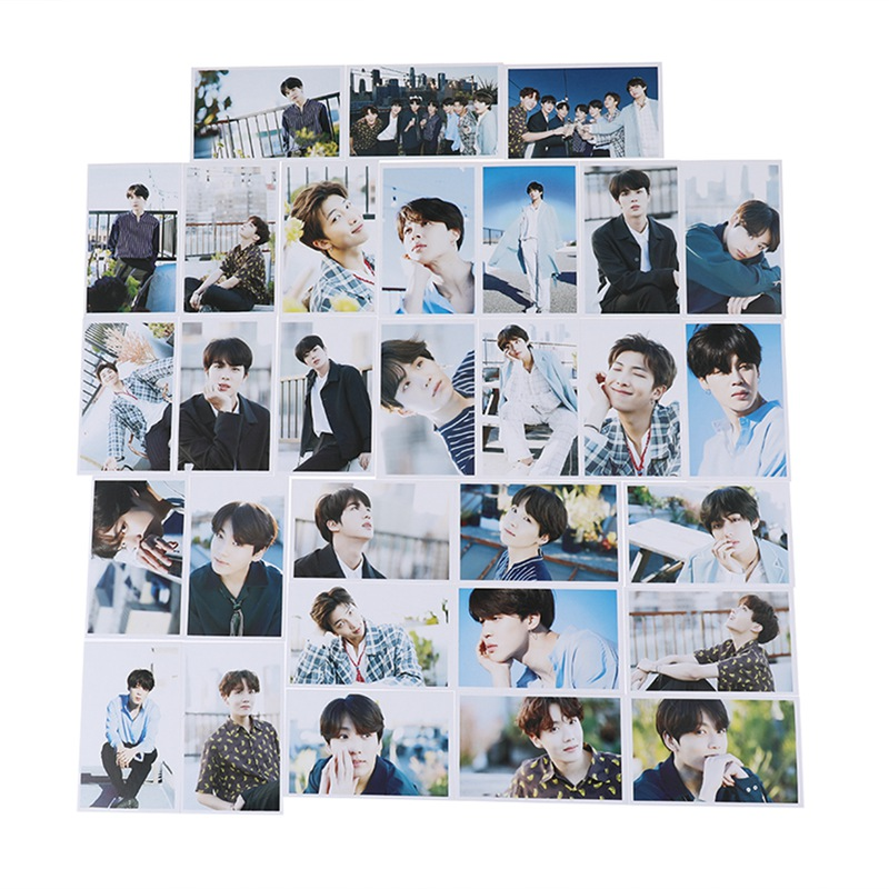 30pcs/set K-pop Bts   5th Anniversary Paper Lomo Card K-pop New Fashion Self Made Paper Photo Card Hd Photocards