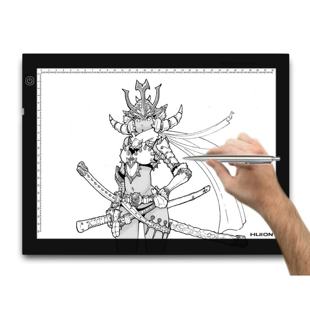 Huion Adjustable Lightness 17.7 Inch LED Artcraft Tracing Light Pad Light Box for Animation Tattoo Quilting Calligraphy Copy -A4