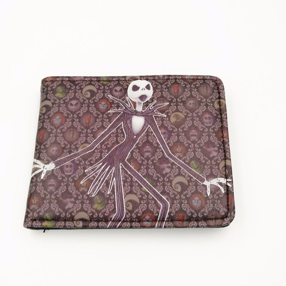 2018 Comics THE NIGHTMARE BEFORE CHRISTMAS Wallet Women & Mens Thriller Movie Cartoon Wallet Short Skull Jack Wallet W295