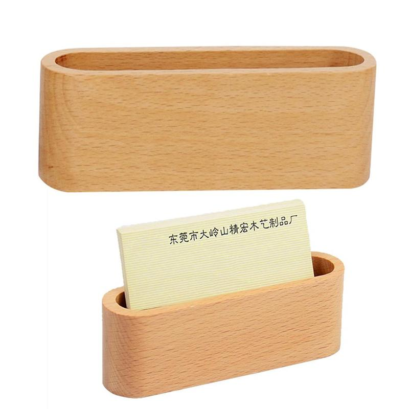 Business Card Holder&Note Holder Display Device Card Stand Holder Wooden Desk Organizer Office Accessories Business Card Holder