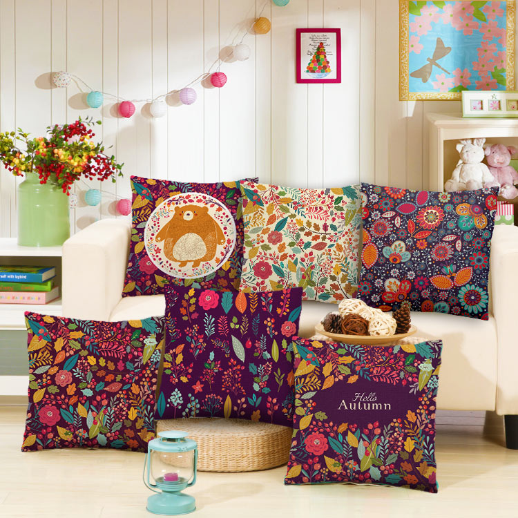 Colorful Indian Pattern Decorative Pillows Bohemian Style Cushion Amazing Indian Style Decorative Pillows