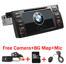 Factory Price 2 Din Car DVD Player for BMW E46 M3 With GPS Bluetooth Radio RDS USB Steering wheel Canbus Free Map+Camera MIC