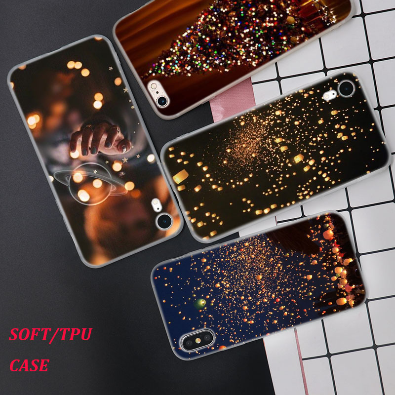 Silicone Case Night lanterns Printing for iPhone XS XR Max X 8 7 6 6S Plus 5 5S SE Phone Case Matte Cover in Fitted Cases from Cellphones Telecommunications