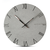 Creative Wall   Clock   Living Room Minimalist Modern Home Round Personality Silent Garden Pine Solid Wood Dedicated Fashion