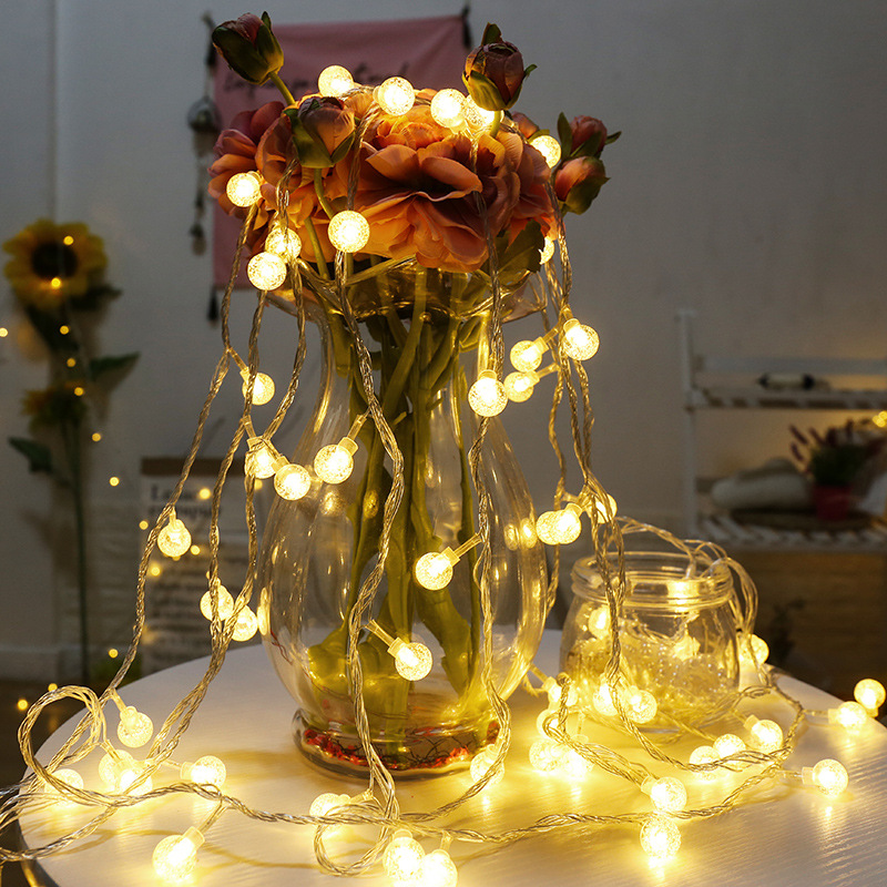 USB Ball Shape LED String Light Christmas Tree Home Courtyard Decoration Lamp Wedding Party Ornament Supplies