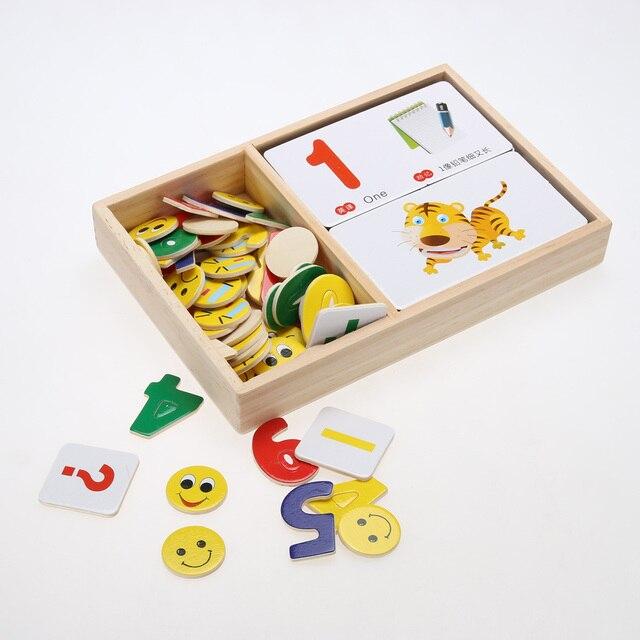 Wooden Multifunctional Digital Box Montessori Educational Kids Toys ...