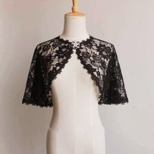 2019 New Arrival Formal Woman Black lace Wraps Shawl Wild Bridal Evening Party Bolero Wedding Ladies Scarf