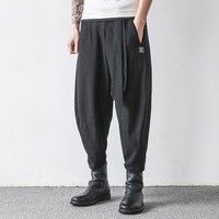 Summer Artes Marciales Entrenamiento Sports Trousers For Men Track Linen Cotton Sportwear Tang Style Wu Shu