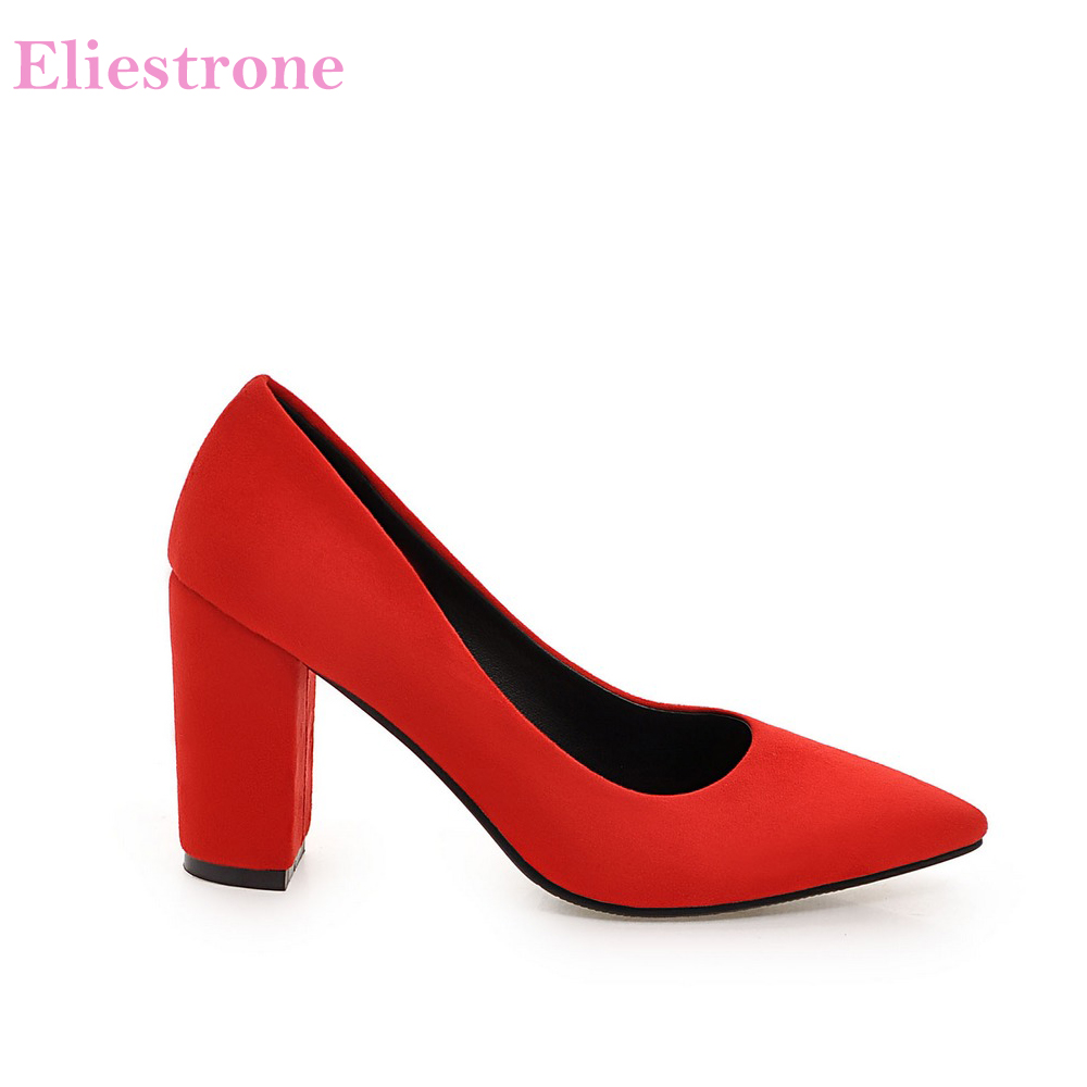 Brand New 6 Colors Elegant Black Women Nude Formal Pumps Gray Vogue High Heels Lady Office Shoes AC356 Plus Big Size 10 33 43