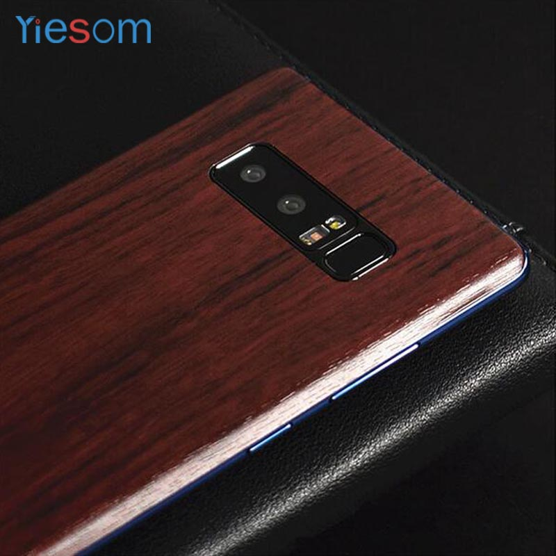 YIESOM For Samsung Note 8 Wood Grain Skins Protective Film Wrap Skin Back Paste Protective Film Sticker for Samsung Galaxy Note8