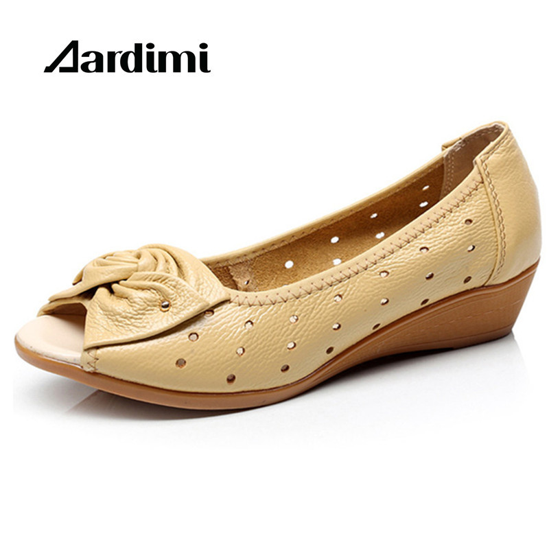 2017 New women shoes genuine leather sandals wedges platform sandals woman peep toe ladies loafers chaussure femme 2017 new summer shoes woman platform sandals women genuine leather casual open toe gladiator wedges women shoes zapatos mujer