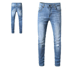 2019 Italian Style Fashion Skinny Stretch Casual Men Jeans New Designer Classical High Quality Pants