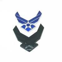 sticker motorcycle Car Styling 3D USAF Chrome Metal Emblem Arm Badge Auto Decor Logo Refitting Decal Motorcycle Decoration USA car sticker (3)