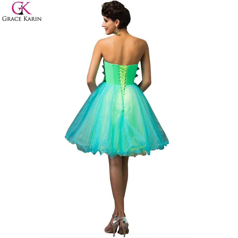 Sweetheart Cocktail Dress Plus size Grace Karin Strapless Formal ...