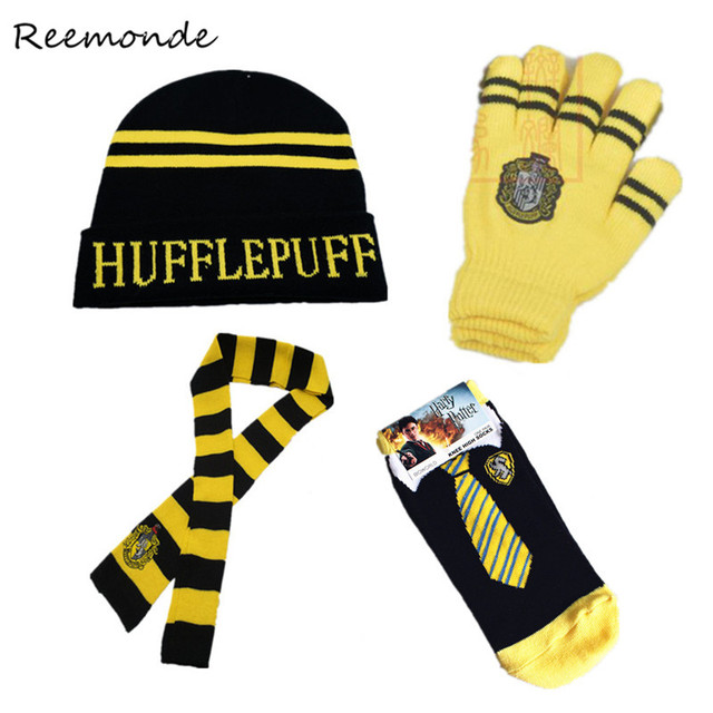 7282c562da9b9 US $18.02 15% OFF|Adult Kids Robes Cloaks Tie Scarfs Hats Cosplay Costumes  Gryffindor Hufflepuff Clothes Gloves Socks Slytherin Hermione Women Men-in  ...