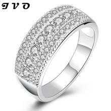 Plateado nuevo diseño del anillo de dedo para la señora joyería de la boda anillos mujer feminino anel anillo de compromiso joyería de moda